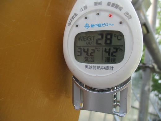 現場パトロール~「暑さ指数」確認は作業員全員で~