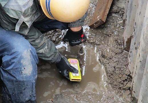 現場パトロール~下水道管敷設ラインは、レーザで確認!~